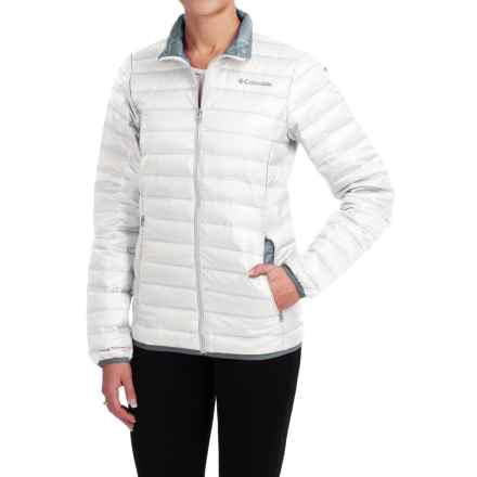 Columbia Sportswear Flash Forward Down Jacket - 650 Fill Power (For Women) in White/Tradewinds Grey - Closeouts