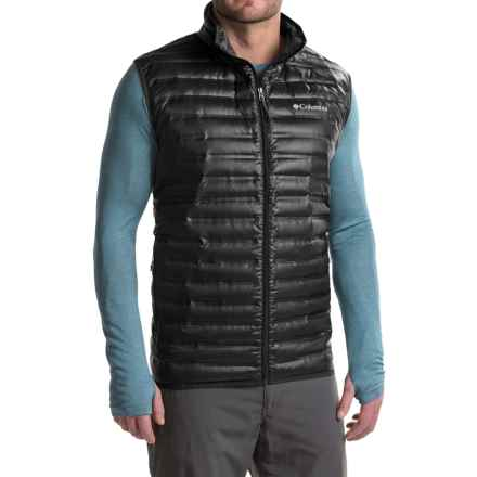 Columbia Sportswear Flash Forward Down Vest - 650 Fill Power (For Big Men) in Black - Closeouts