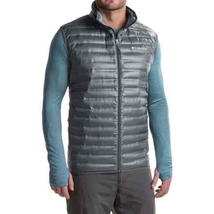 Columbia Sportswear Flash Forward Down Vest - 650 Fill Power (For Big Men) in Graphite - Closeouts
