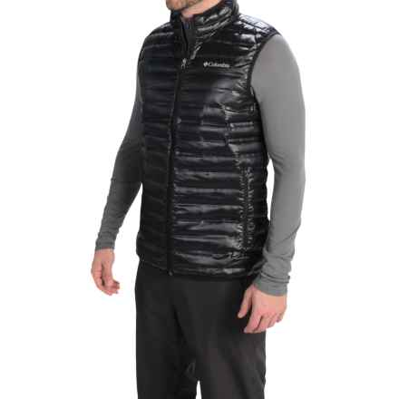 Columbia Sportswear Flash Forward Down Vest - 650 Fill Power (For Men) in Black/Hyper Blue - Closeouts