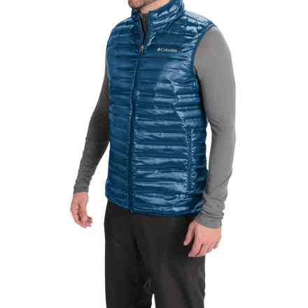 Columbia Sportswear Flash Forward Down Vest - 650 Fill Power (For Men) in Marine Blue - Closeouts