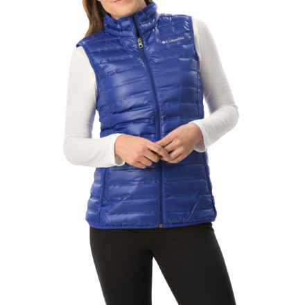 Columbia Sportswear Flash Forward Down Vest - 650 Fill Power (For Women) in Light Grape - Closeouts