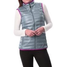 Columbia Sportswear Flash Forward Down Vest - 650 Fill Power (For Women) in Tradewinds Grey/Bright Plum - Closeouts