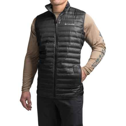 Columbia Sportswear Flash Forward Heat Seal Down Vest - 650 Fill Power (For Tall Men) in Black - Closeouts