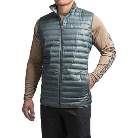 Columbia Sportswear Flash Forward Heat Seal Down Vest - 650 Fill Power (For Tall Men) in Graphite - Closeouts