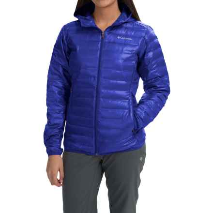 Columbia Sportswear Flash Forward Hooded Down Jacket - 650 Fill Power (For Women) in Blue Macaw - Closeouts