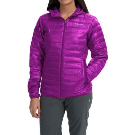 Columbia Sportswear Flash Forward Hooded Down Jacket - 650 Fill Power (For Women) in Bright Plum - Closeouts