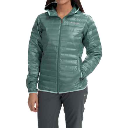 Columbia Sportswear Flash Forward Hooded Down Jacket - 650 Fill Power (For Women) in Pond/Spray - Closeouts