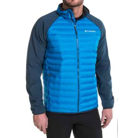 Columbia Sportswear Flash Forward Hybrid Down Jacket - 650 Fill Power (For Men) in Super Blue/Collegiate Navy - Closeouts