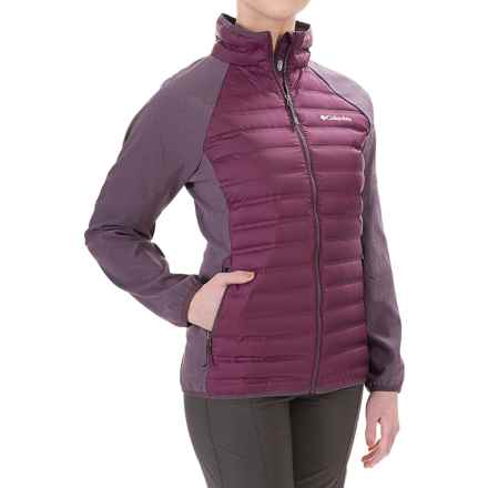 Columbia Sportswear Flash Forward Hybrid Down Jacket - 650 Fill Power (For Women) in Purple Dahlia/Dusty Purple - Closeouts
