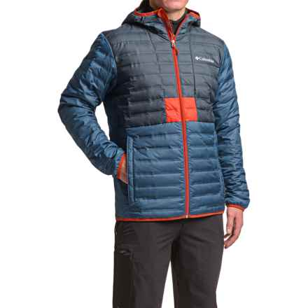 Columbia Sportswear Flashback Down Hooded Jacket - 650 Fill Power (For Men) in Collegiate Navy/Night Tide - Closeouts