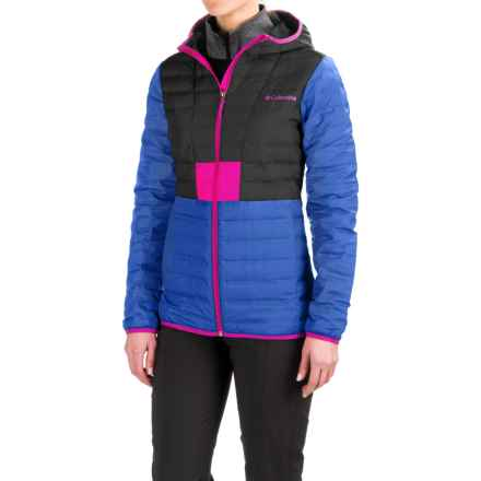 Columbia Sportswear Flashback Down Hooded Jacket - 650 Fill Power (For Women) in Blue Macaw/Black - Closeouts