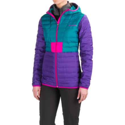 Columbia Sportswear Flashback Down Hooded Jacket - 650 Fill Power (For Women) in Royal Purple/Sea Level - Closeouts