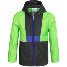 Columbia Sportswear Flashback Windbreaker (For Toddlers) in Green Mamba/Black - Closeouts