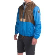 Columbia Sportswear Flashback Windbreaker Jacket - National Park Edition (For Men) in Camo Brown/Pacific Blue - Closeouts