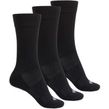 Columbia Sportswear Flat Knit Socks - 3-Pack, Crew (For Women) in Black - Closeouts
