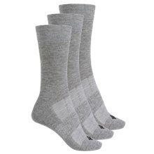 Columbia Sportswear Flat Knit Socks - 3-Pack, Crew (For Women) in Heather Grey - Closeouts