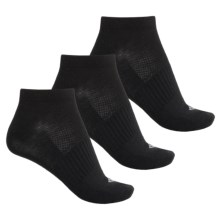 Columbia Sportswear Flat Low-Cut Knit Socks - 3-Pack, Below the Ankle (For Women) in Black - Closeouts