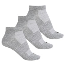 Columbia Sportswear Flat Low-Cut Knit Socks - 3-Pack, Below the Ankle (For Women) in Grey - Closeouts