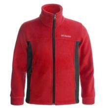 Columbia Sportswear Flattop Mountain Fleece Jacket (For Boys) in Rocket/Black - Closeouts