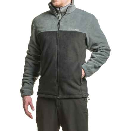 Columbia Sportswear Flattop Ridge Fleece Jacket - Full Zip (For Men) in Black/Graphite - Closeouts