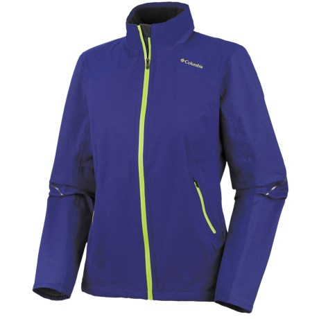 Columbia Sportswear Flyin Dry Shell Jacket - Waterproof (For Women) in Clematis Blue