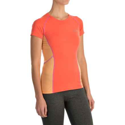 Columbia Sportswear Freeze Degree III Shirt - UPF 30, Short Sleeve (For Women) in Coral Flame - Closeouts