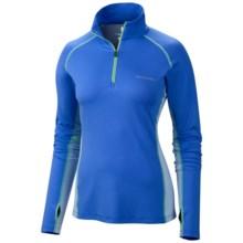 Columbia Sportswear Freeze Degree III Shirt - UPF 30, Zip Neck, Long Sleeve (For Women) in Harbor Blue - Closeouts