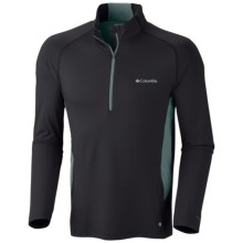 Columbia Sportswear Freeze Degree Shirt - UPF 50, Zip Neck, Long Sleeve (For Men) in Black - Closeouts