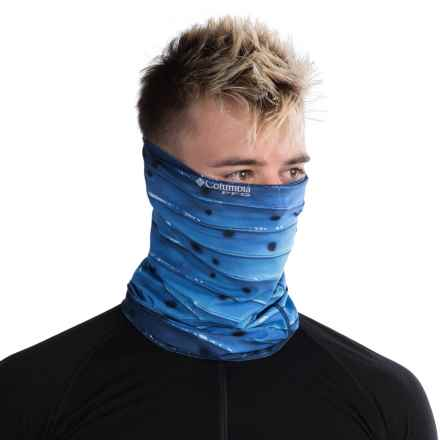 Columbia Sportswear Freezer Omni-Freeze® ZERO Neck Gaiter - UPF 50 (For Men and Women) in Vivid Blue/Billfish Stripe/P - Closeouts
