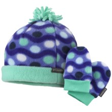Columbia Sportswear Frosty Fleece II Beanie Hat and Mitten Set (For Infants) in Atlantis - Closeouts