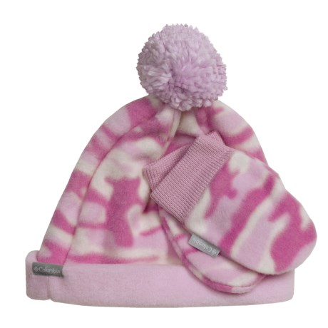 Columbia Sportswear Frosty Fleece II Beanie Hat and Mittens Set (For Kids) in Isla Camo