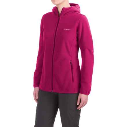 Columbia Sportswear Fuller Ridge Hooded Fleece Jacket - Full Zip (For Women) in Red Orchid - Closeouts