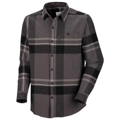 Columbia Sportswear Fusain Flannel Shirt - Long Sleeve (For Men) in Black