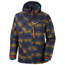 Columbia Sportswear Fused Form II Omni-Heat® Omni-Tech® Jacket - Waterproof (For Men) in Autumn Orange Multi Plaid Print - Closeouts