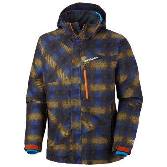 Columbia Sportswear Fused Form II Omni-Heat® Omni-Tech® Jacket - Waterproof (For Men) in Autumn Orange Multi Plaid Print