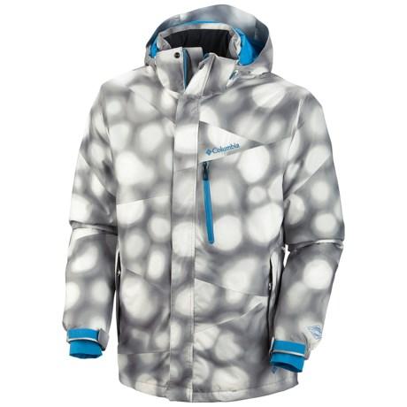 Columbia Sportswear Fused Form II Omni-Heat® Omni-Tech® Jacket - Waterproof (For Men) in Sea Salt Bubbles Print