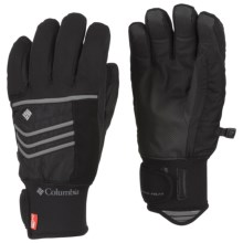 Columbia Sportswear Gathering Storm Omni-Heat® OutDry® Short Gloves - Waterproof, Insulated (For Men) in Black - Closeouts