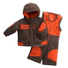 Columbia Sportswear General Dobby Set - Jacket and Bibs (For Infant Boys) in Bark - Closeouts