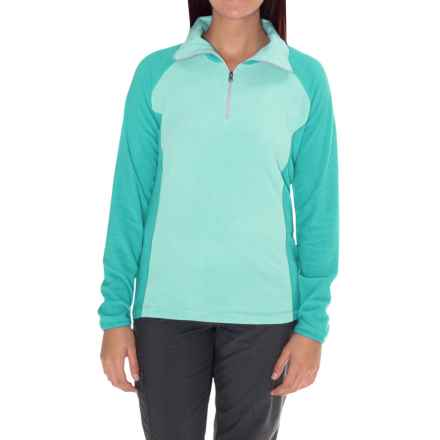 Columbia Sportswear Glacial Fleece III Fleece Shirt - Long Sleeve (For Women) in Ocean Water/Miami - Closeouts
