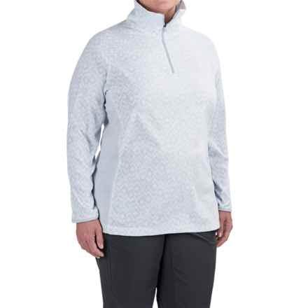 Columbia Sportswear Glacial Fleece III Jacket - Zip Neck (For Plus Size Women) in Cirrus Grey Zigzag - Closeouts