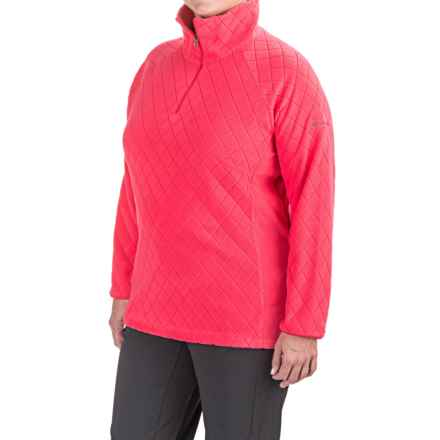 Columbia Sportswear Glacial Fleece III Jacket - Zip Neck (For Plus Size Women) in Punch Pink Diamond Quilt - Closeouts