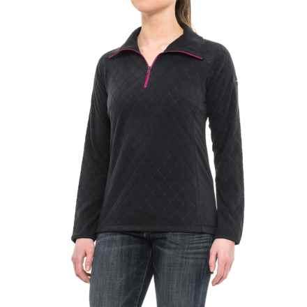 Columbia Sportswear Glacial Fleece III Print Jacket - Zip Neck (For Women) in Black Diamond Quilt - Closeouts