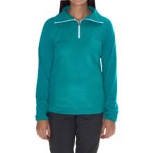 Columbia Sportswear Glacial Fleece III Print Jacket - Zip Neck (For Women) in Mayan Green Emboss - Closeouts