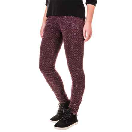 Columbia Sportswear Glacial Fleece Printed Leggings (For Women) in Purple Dahlia Zigzag - Closeouts