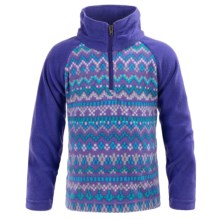 Columbia Sportswear Glacial II Fleece Pullover Sweater - Zip Neck (For Toddler Girls) in Light Grape, Fairisle - Closeouts