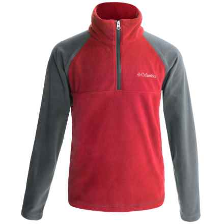 Columbia Sportswear Glacial Jacket - Zip Neck (For Little and Big Boys) in Mountain Red/Graphite - Closeouts