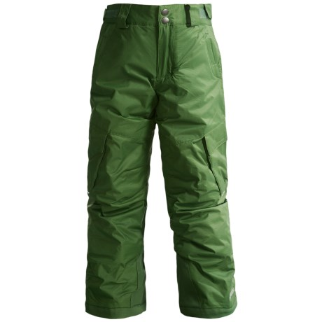 Columbia Sportswear Glacier Slope II Snow Pants - Insulated (For Boys) in Dark Backcountry
