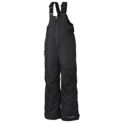 Columbia Sportswear Glacier Slope Omni-Tech® Bib Overalls (For Boys) in Black