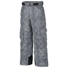 Columbia Sportswear Glacier Slope Snow Pants - Insulated (For Boys) in Black Vert Stripe - Closeouts